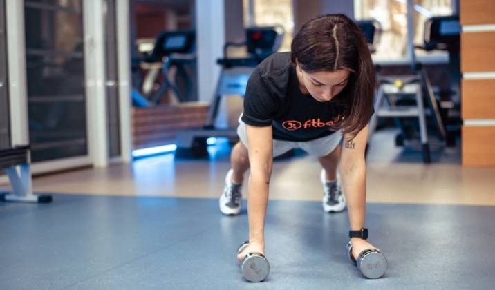 dumbbell burpee - dumbbell ab exercises for weight loss
