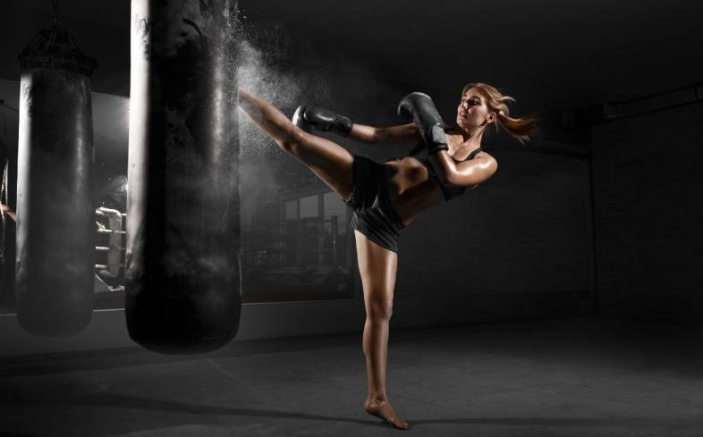 kickboxing is a great form of total-body high intensity, high impact cardiovascular training