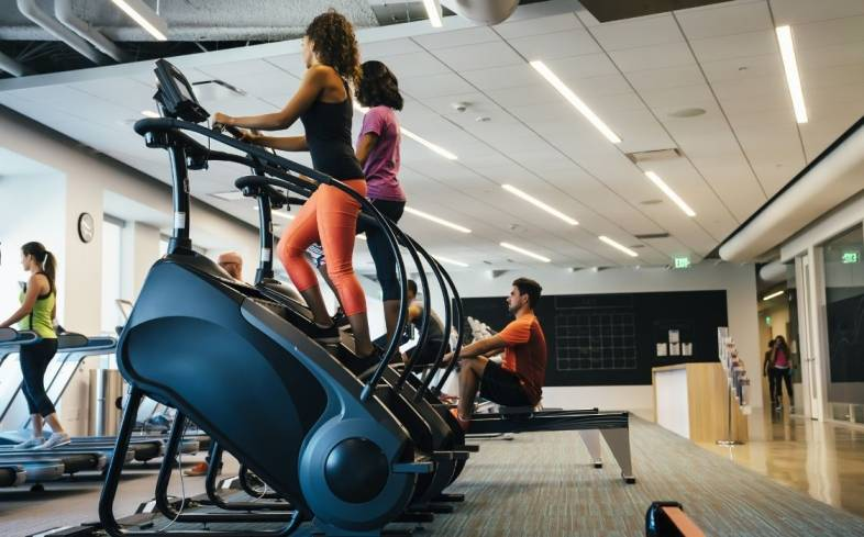the stair climber improves muscle endurance of the legs, glutes, and calves