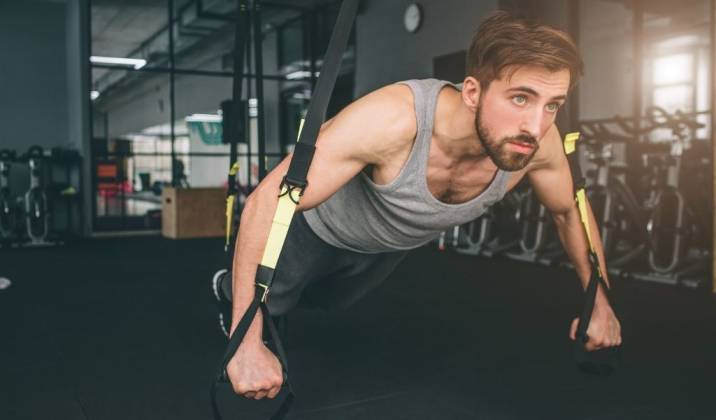 suspension training involves a system of ropes and cables that enables you to use your body weight against gravity
