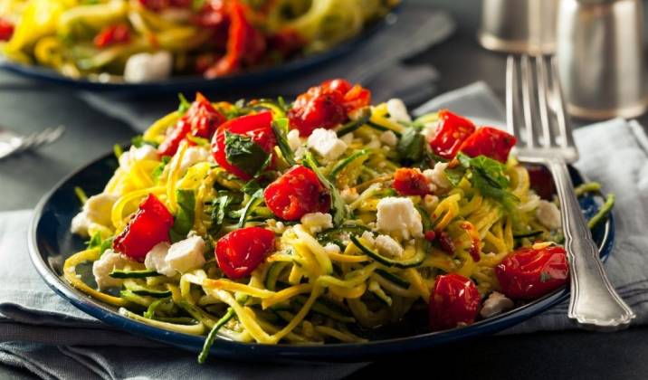 zucchini noodles, better known as zoodles