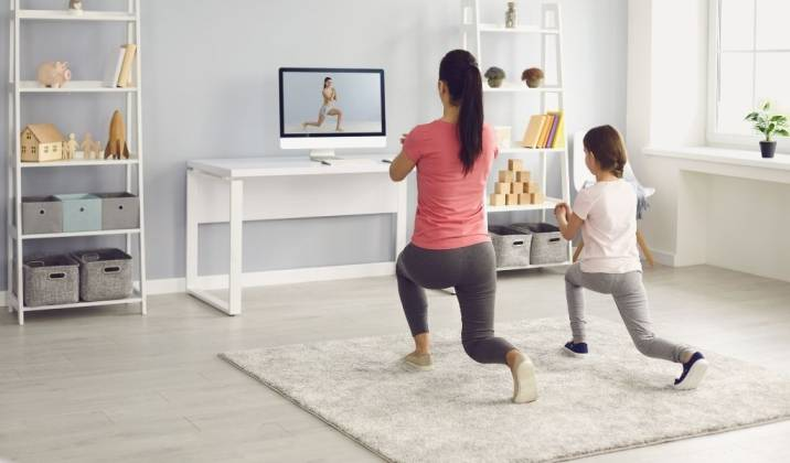 sample workout routine for busy moms